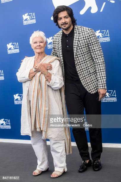 Judi Dench and Ali Fazal the 'Victoria Abdul And JaegerLeCoultre' photocall during the 74th Venice Film Festival at Sala Casino on September 3 2017...