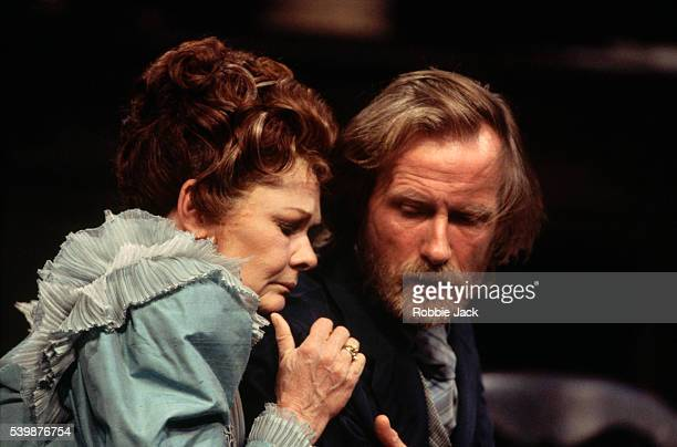 Judi Dench and Bill Nighy appear in a National Theatre production of 'The Seagull' by Chekhov.