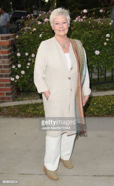 Judi Dench arrives to the champagne launch of BritWeek at the Consul General's Official Residence in Los Angeles, California, on April 24, 2008.?