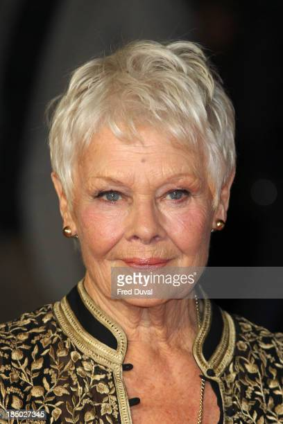 Judi Dench attends a screening of 'Don Jon' during the 57th BFI London Film Festival at Odeon Leicester Square on October 16 2013 in London England