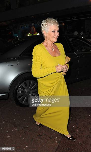 Judi Dench attends Audi Arrivals at the World Premiere of 'Nine' at Odeon Leicester Square on December 3 2009 in London England