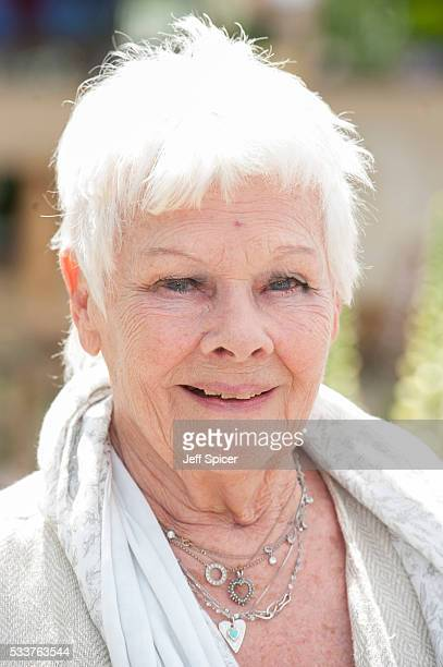Judi Dench attends Chelsea Flower Show press day at Royal Hospital Chelsea on May 23 2016 in London England