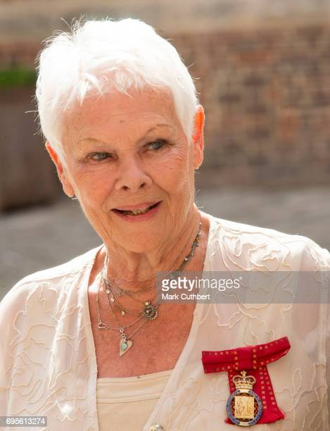 Judi Dench attends Evensong in celebration of the centenary of the Order of the Companions of Honour at Hampton Court Palace on June 13 2017 in...