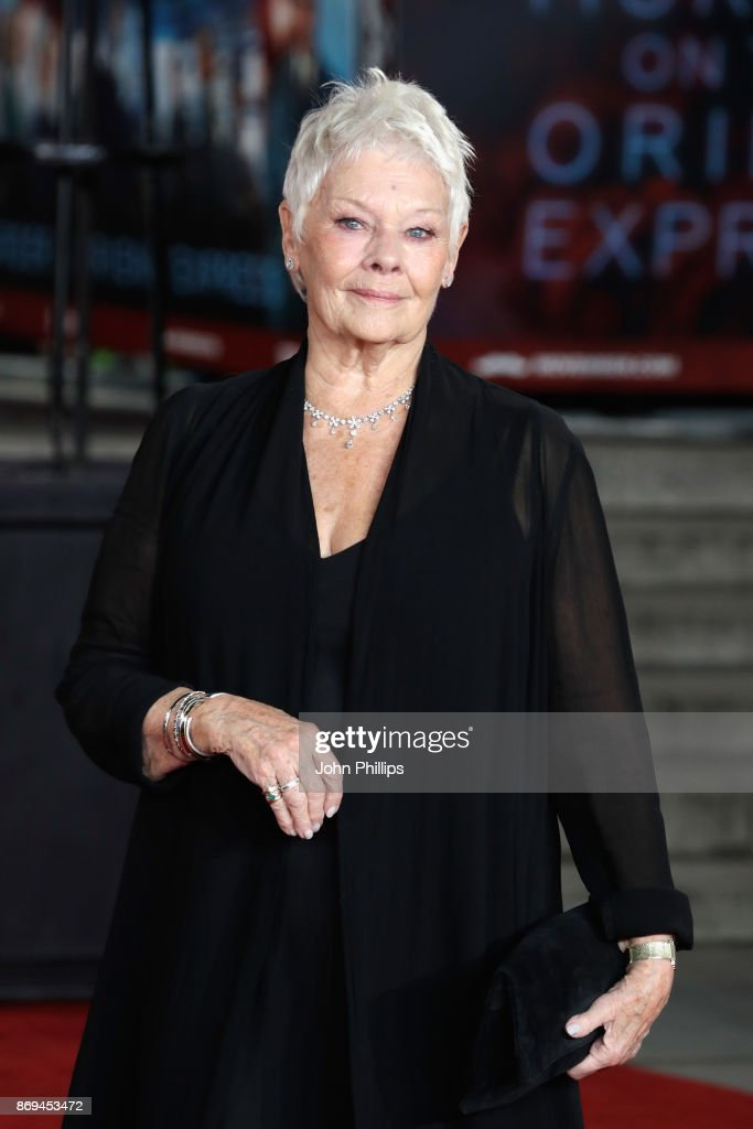 Judi Dench attends the 'Murder On The Orient Express' World Premiere at Royal Albert Hall on November 2, 2017 in London, England.