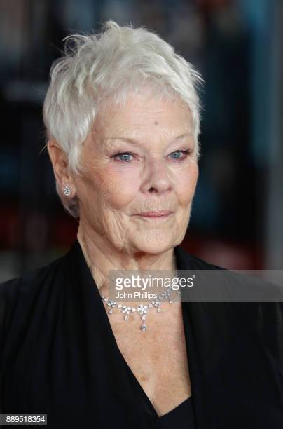 Judi Dench attends the 'Murder On The Orient Express' World Premiere at Royal Albert Hall on November 2 2017 in London England