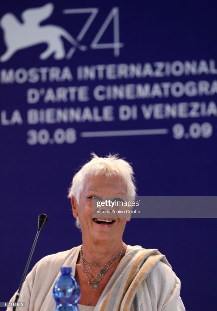 Judi Dench attends the Victoria & Abdul and Jaeger-LeCoultre Glory to the Filmmake Award Press Conference during the 74th Venice International Film Festival at Palazzo del Casino on September 3, 2017 in Venice, Italy.
