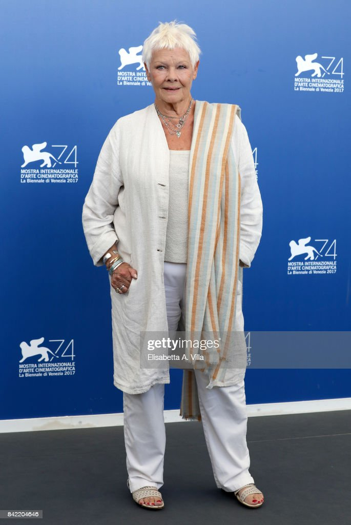 Judi Dench attends the 'Victoria & Abdul And Jaeger-LeCoultre Glory To The Filmaker Award 2017' Cinema photocall during the 74th Venice Film Festival on September 3, 2017 in Venice, Italy.
