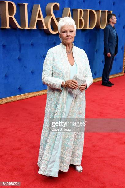 """Judi Dench attends the """"Victoria & Abdul"""" UK premiere at Odeon Leicester Square on September 5, 2017 in London, England."""