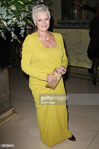 Judi Dench attends the world premiere afterparty of Nine held at Claridges Hotel on December 3 2009 in London England