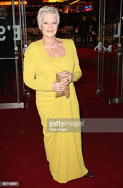 Judi Dench attends the world premiere of Nine held at the Odeon Leicester Square on December 3 2009 in London England