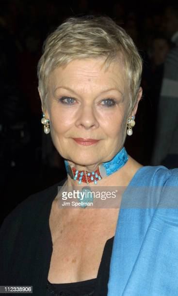 Judi Dench during Iris Premiere at Paris Theatre in New York City New York United States