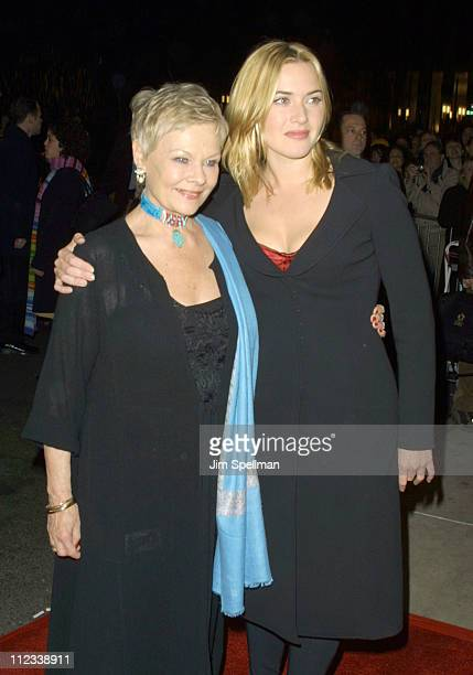 Judi Dench Kate Winslet during Iris Premiere at Paris Theatre in New York City New York United States