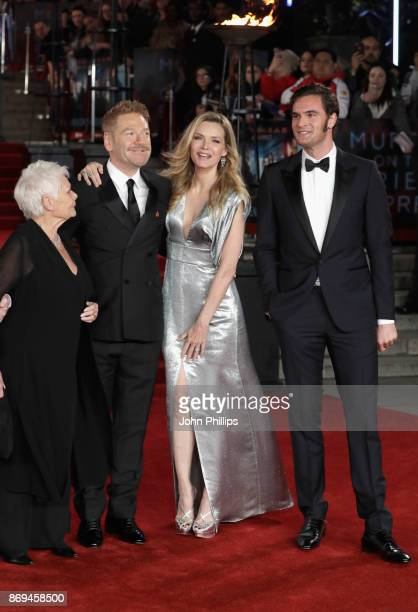 Judi Dench Kenneth Branagh Michelle Pfeiffer and Tom Bateman attend the 'Murder On The Orient Express' World Premiere at Royal Albert Hall on...
