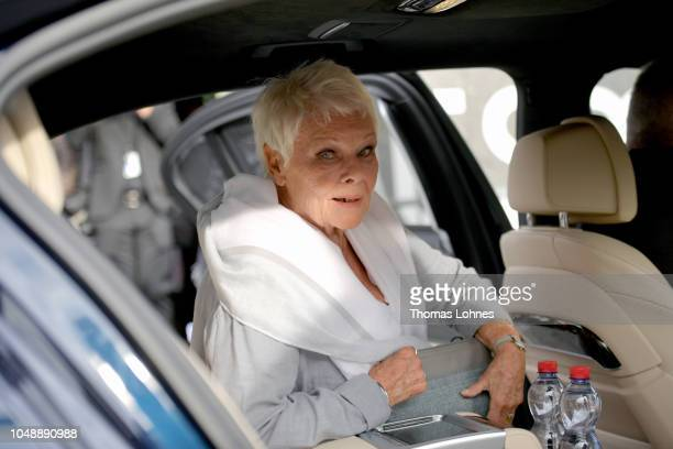 Judi Dench leaves after the 'Red Joan' press conference during the 14th Zurich Film Festival on October 03 2018 in Zurich Switzerland