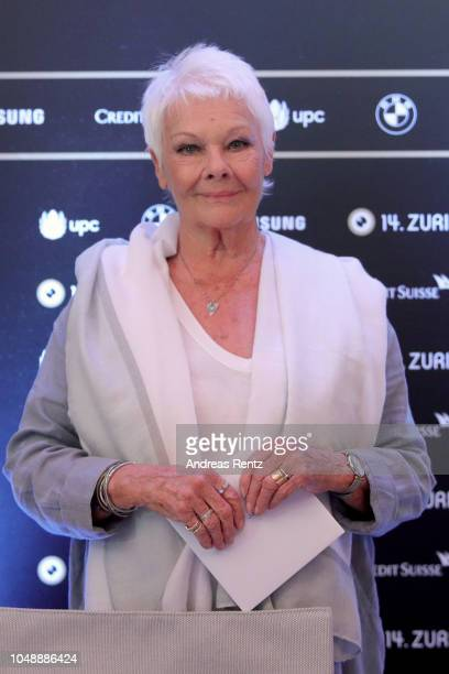 Judi Dench speaks at the 'Red Joan' press conference during the 14th Zurich Film Festival on October 03 2018 in Zurich Switzerland