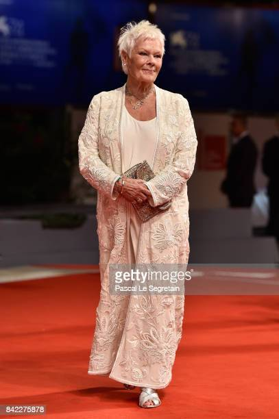 Judi Dench walks the red carpet ahead of the 'Victoria & Abdul' screening and Jaeger-LeCoultre Glory To The Filmaker Award 2017 during the 74th...