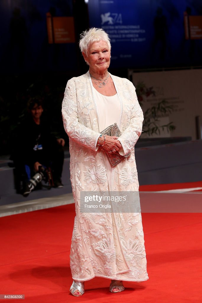 Judi Dench walks the red carpet ahead of the 'Victoria & Abdul' screening during the 74th Venice Film Festival at Sala Grande on September 3, 2017 in Venice, Italy.