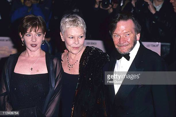 Judi Dench with daughter Finty Williams and husband Michael Williams