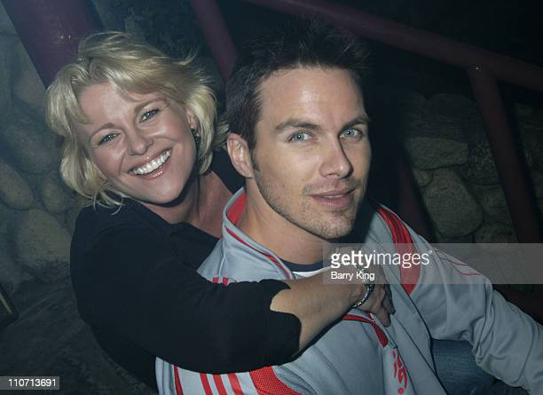 Judi Evans and Brody Hutzler during 'Days of Our Lives' Stars Visit Knott's Scary Farm Halloween Haunt 2004 at Knott's Berry Farm in Buena Park...