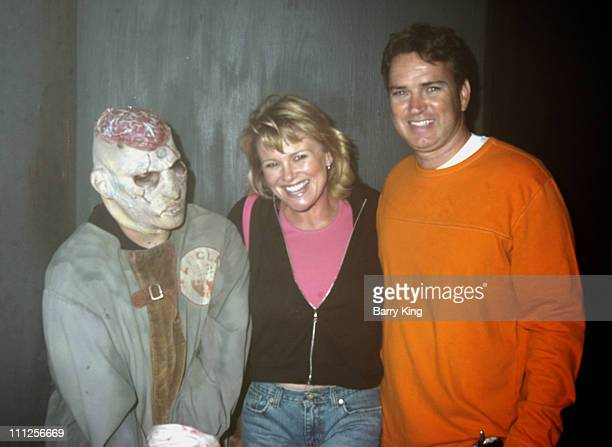 Judi Evans and husband Michael Luciano during The Stars of Days of Our Lives and The OC Visit Knott's Scary Farm's 33rd Annual Halloween Haunt at...