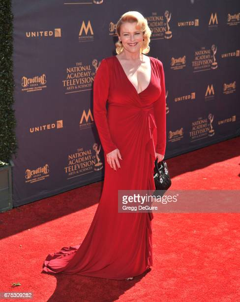Judi Evans arrives at the 44th Annual Daytime Emmy Awards at Pasadena Civic Auditorium on April 30 2017 in Pasadena California