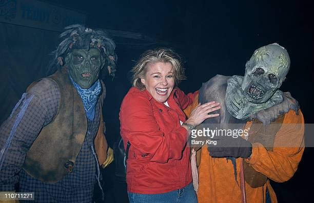 Judi Evans during Days Of Our Lives Stars Visit Knott's Berry Farms Halloween Haunt at Knott's Berry Farm in Buena Park California United States