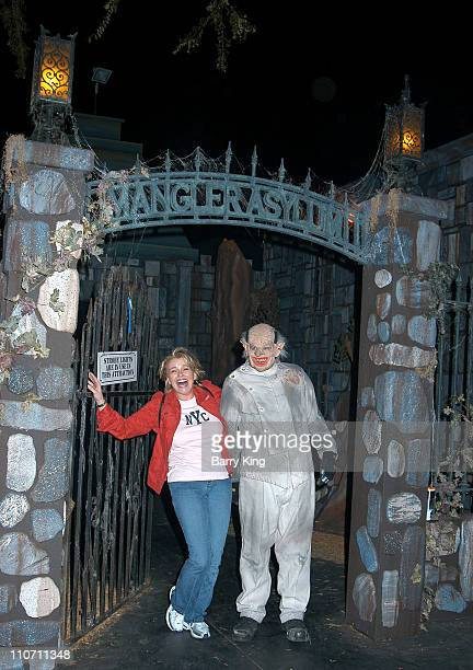 Judi Evans in The Asylum maze during Days Of Our Lives Stars Visit Knott's Berry Farms Halloween Haunt at Knott's Berry Farm in Buena Park California...