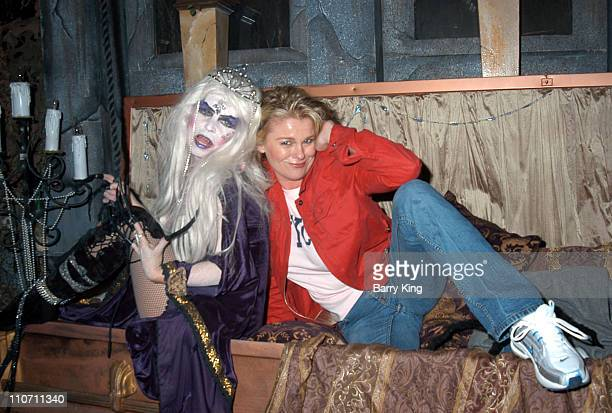 Judi Evans in the Lore Of The Vampire Maze during Days Of Our Lives Stars Visit Knott's Berry Farms Halloween Haunt at Knott's Berry Farm in Buena...