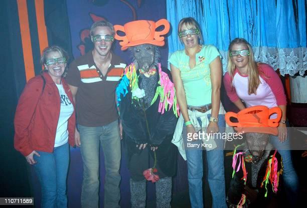 Judi Evans Kyle Lowder Arianne Zuker and Alison Sweeney in Malice in Wonderland Maze