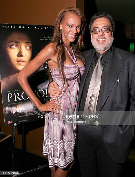 Judi Shekoni and Jag Mundhra during The International Indian Film Academy Awards Launch Opening Reception at The Ivar in Hollywood California United...