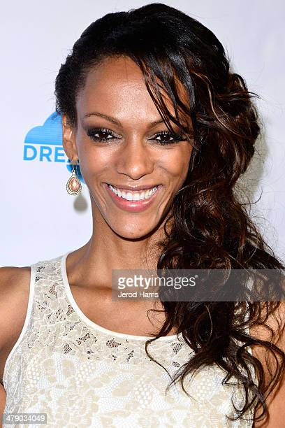 Judi Shekoni arrives at the Dream Builders Project's 'A Brighter Future For Children' benefit at HOME on March 15 2014 in Beverly Hills California
