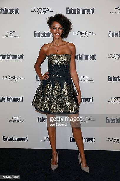 Judi Shekoni attends the 2015 Entertainment Weekly PreEmmy Party at Fig Olive Melrose Place on September 18 2015 in West Hollywood California