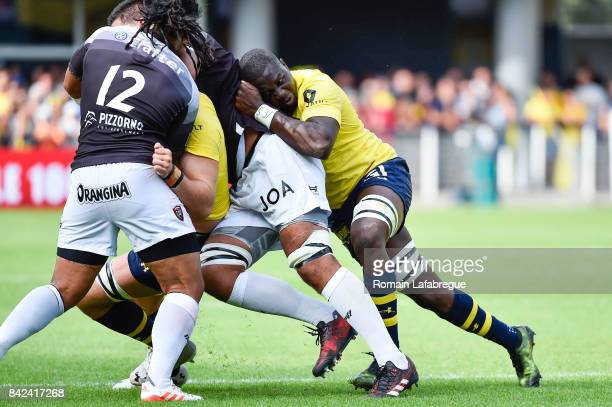 Judicael Cancoriet of Clermont during the Top 14 match between Clermont and Toulon on September 3 2017 in ClermontFerrand France