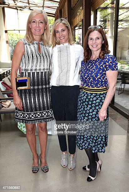 Judih Milberg Katalin von Wrede Judith Epstein attend the ladies lunch at Bayerischer Hof during the launch of the Tory Burch collection in...