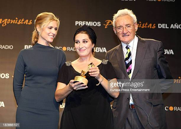Judit Masco Ana Pastor and Luis del Olmo attend the 'Protagonistas Awards 2011' at Palau de Congresos on November 14 2011 in Barcelona Spain