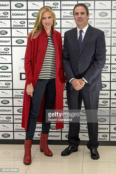 Judit Masco and Jose Luis Huguet pose during a photocall for the new Jaguar Land Rover Donnay space inauguration on November 17 2016 in Barcelona...