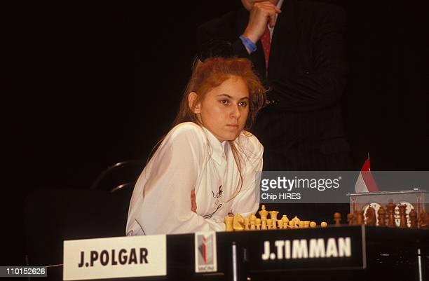 Judit Polgar, Chess Championship in Paris, France on November 11, 1992 - lmmopar trophee in Paris