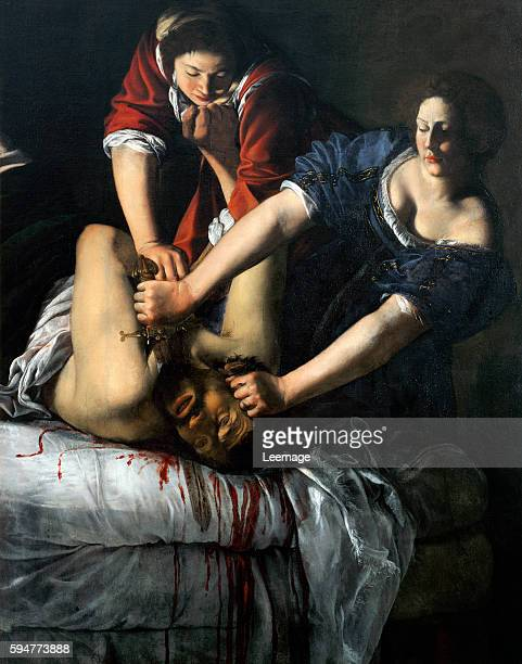 Judith and Holofernes Painting by Artemesia Gentileschi oil on canvas 163x126cm Museo e Gallerie Nazionali di Capodimonte Naples