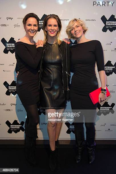 Judith Berger Monica Ivancan and Anne Wis attend the Different Fashion Party 2015 on April 2 2015 in Sylt Germany