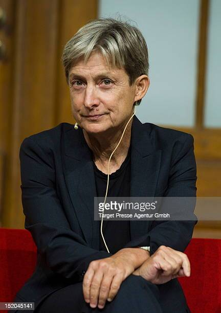 Judith Butler poses for a photo at the Jewish Museum on September 15, 2012 in Berlin, Germany. Butler is a philosopher and professor awarded the...