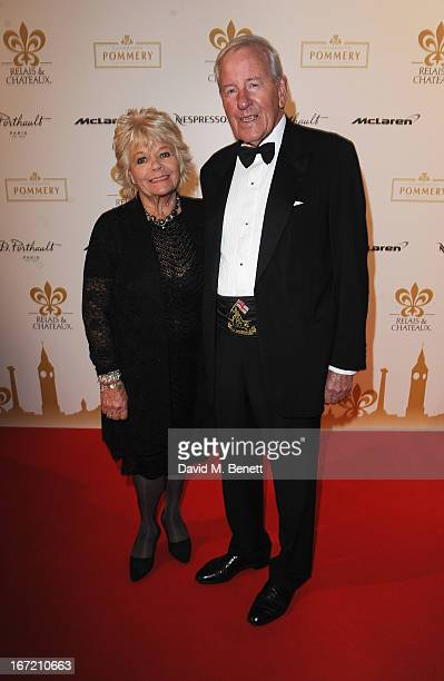 Judith Chalmers and Neil DurdenSmith attends Relais Chateaux's 'Diner des Grands Chefs London 2013' in aid of Action Against Hunger at The Old...