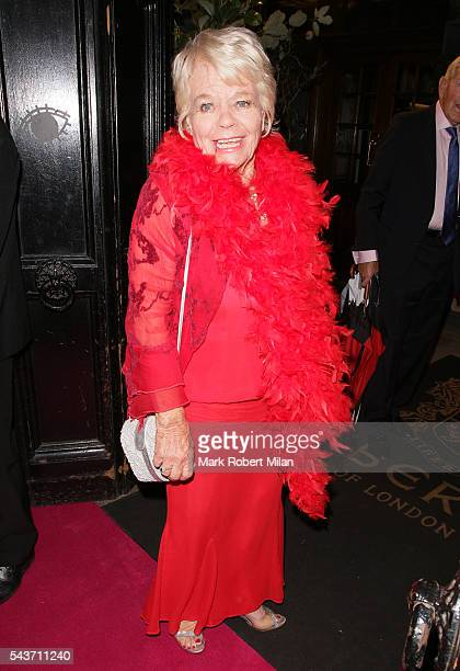 Judith Chalmers attending the Absolutely Fabulous The Movie world film premiere after party at Liberty of London on June 29 2016 in London England