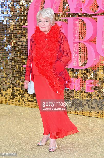 Judith Chalmers attends the 'Absolutely Fabulous The Movie' World Premiere at the Odeon Leicester Square on June 29 2016 in London England