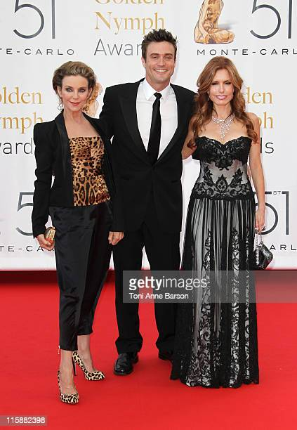 Judith Chapman Daniel Goddard and Tracey Bregman attends the Closing Ceremony and The Gold Nymph Awards at the Grimaldi Forum on June 10 2011 in...