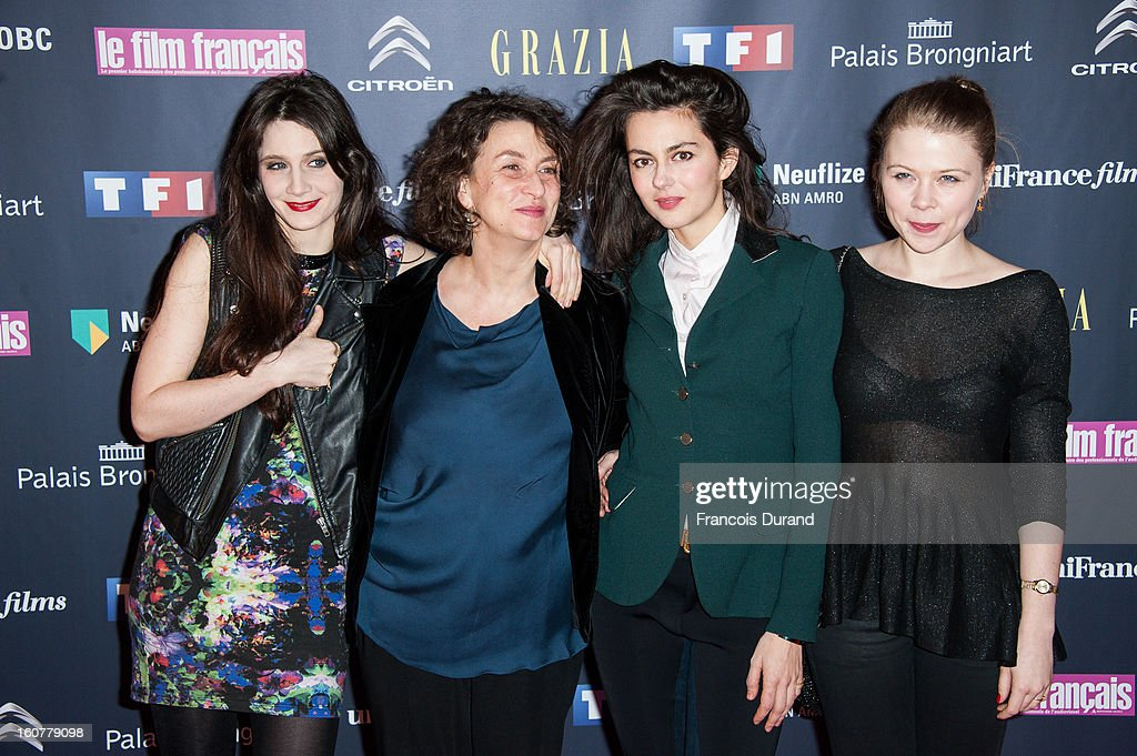 Judith Chemla, Noemie Lvovsky, Julia Faure and India Hair attend the 'Trophees Du Film Francais' 20th Ceremony at Palais Brongniart on February 5, 2013 in Paris, France.