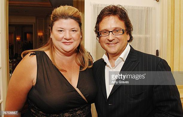 Judith Connolly and Michael Pucci of Rebecca Jewelry attend the Los Angeles Confidential cocktail party before the annual preEmmy party with Ellen...