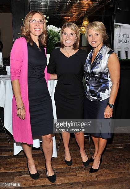 Judith Curr author Nicolle Wallace and news anchor Katie Couric attend the 'Eighteen Acres' book launch breakfast at the Soho House on September 30...