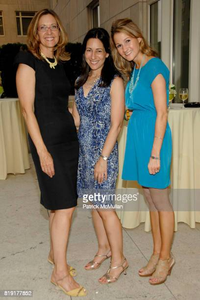 Judith Curr Greer Hendricks and Sarah Cantin attend Susan FalesHill's ONE FLIGHT UP Book Launch Party at 15 Central Park West on July 21st 2010 in...