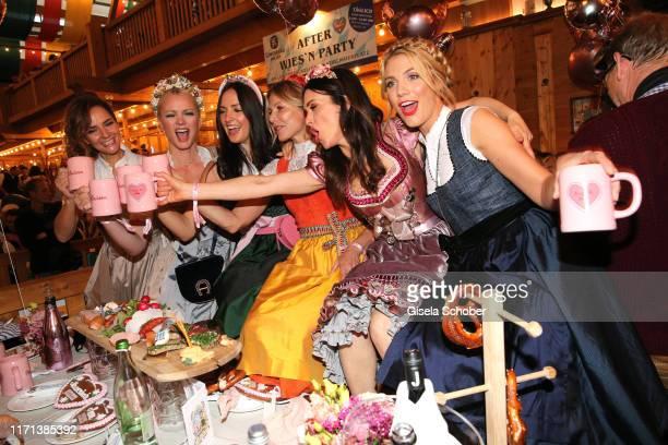 "Judith Dommermuth, Franziska Knuppe, Johanna Klum, Ursula Karven, Viktoria Lauterbach, Viviane Geppert during the ""Madlwiesn"" as part of the..."