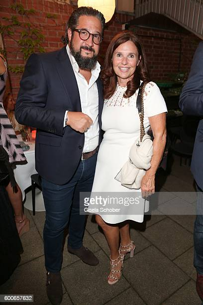 Judith Epstein and Gregory Schmerz during the 'Casha for Cadenzza' jewelry collection launch event at restaurant 'Pageou' on September 8 2016 in...